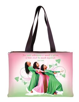 Picture of HB10 Three Ladies (Pink and Green) Handbag