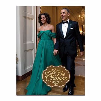 President and First Lada Obama in black tie attire on a journal cover