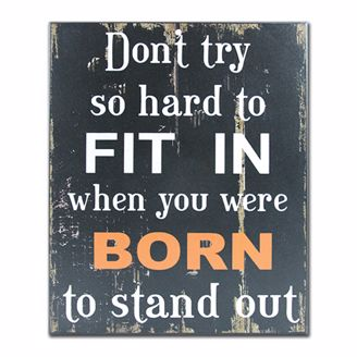 Picture of CHWP09 Born to Stand Out Wall Plaque