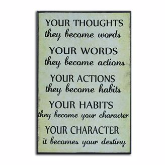 Picture of CHWP24 Your Thoughts Wall Plaque