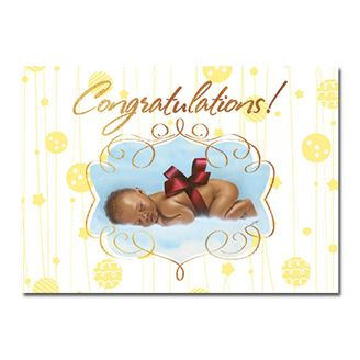 Picture of Congratulations Baby in a Bow Card