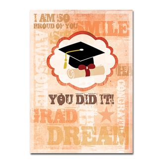 Picture of You Did It Graduation Card