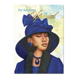 Picture of Birthday Blue Lady Card