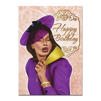 Picture of Beautiful Woman Card