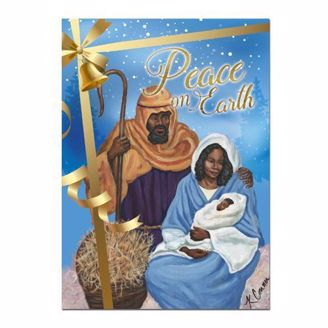 Peace on Earth African American Christmas Card