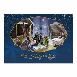 African American Expressions Oh Holy Night Holiday Card