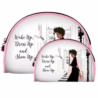 Wake Up Dress Up Show Up Cosmetic Bag Set