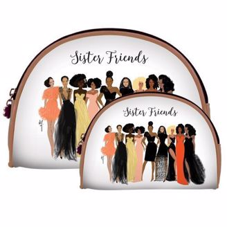 Sister Friends Black Gifts Cosmetic Bags at African American Expressions
