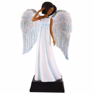 Figurine of African Woman Angel in Blue