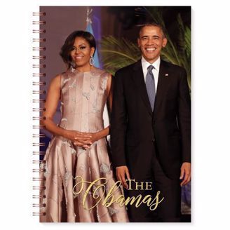 Blank Wired Journal with a Picture of the Obamas on the cover.