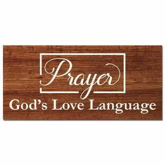 Picture of CHWP35 Gods Love Language Wall Plaque