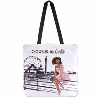 Picture of WTB17 Crowned in Curls Woven Totebag