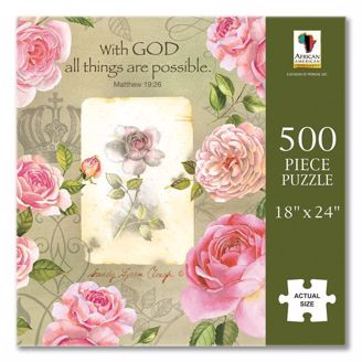 Picture of PUZ15 With God Roses Puzzle