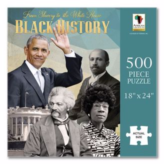 Picture of PUZ17 From Slavery to the White House Black History Puzzle