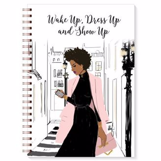 African American Woman in City, Wake up, Dress up, and Show Up Wired Journal