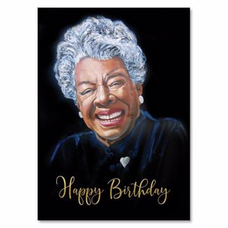 Picture of AOLJB139 Happy Birthday (Black) - Maya Angelou