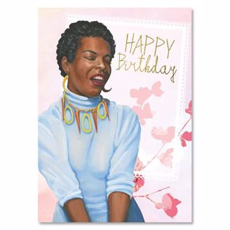 Picture of AOLJB143 Happy Birthday (Pink) - Maya Angelou