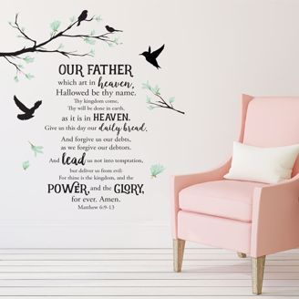Picture of WD01 Lords Prayer Wall Art Decal