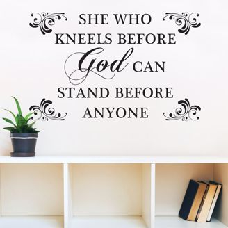 Picture of WD04 She Who Kneels Wall Art Decal