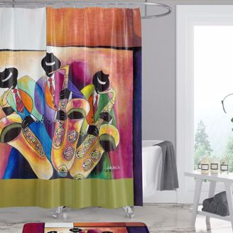 Picture of SC02 Jazz Sax Men Shower Curtain