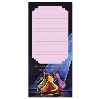 Picture of PRAISES GO UP MAGNETIC NOTEPAD