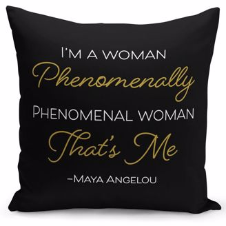 Picture of PC02 Maya Angelou Phenomenal Woman Pillow Cover