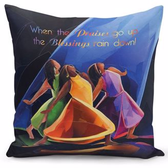 Picture of PC10 Praises Go Up Pillow Cover