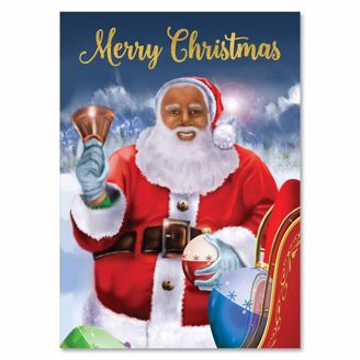 Picture of C962 Merry Santa Christmas Card