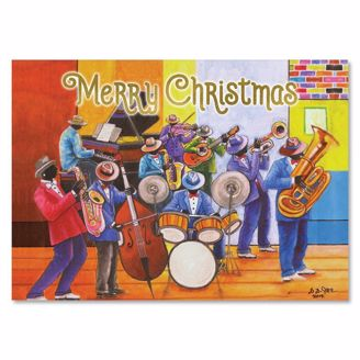 Picture of C957 Merry Christmas Jazz Christmas Card
