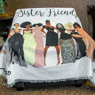 Picture of TH33 Sister Friends Tapestry Throw