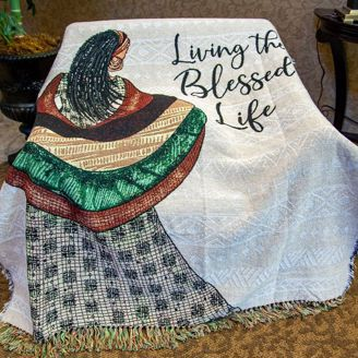 Picture of TH34 Blessed Life Tapestry Throw