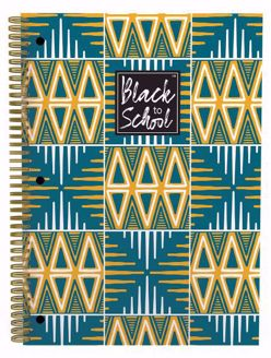 Mudcloth Pattern African Print Large Notebook Set of 3 NBL03