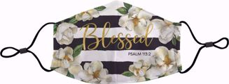 Blessed Magnolia Face Mask - Front